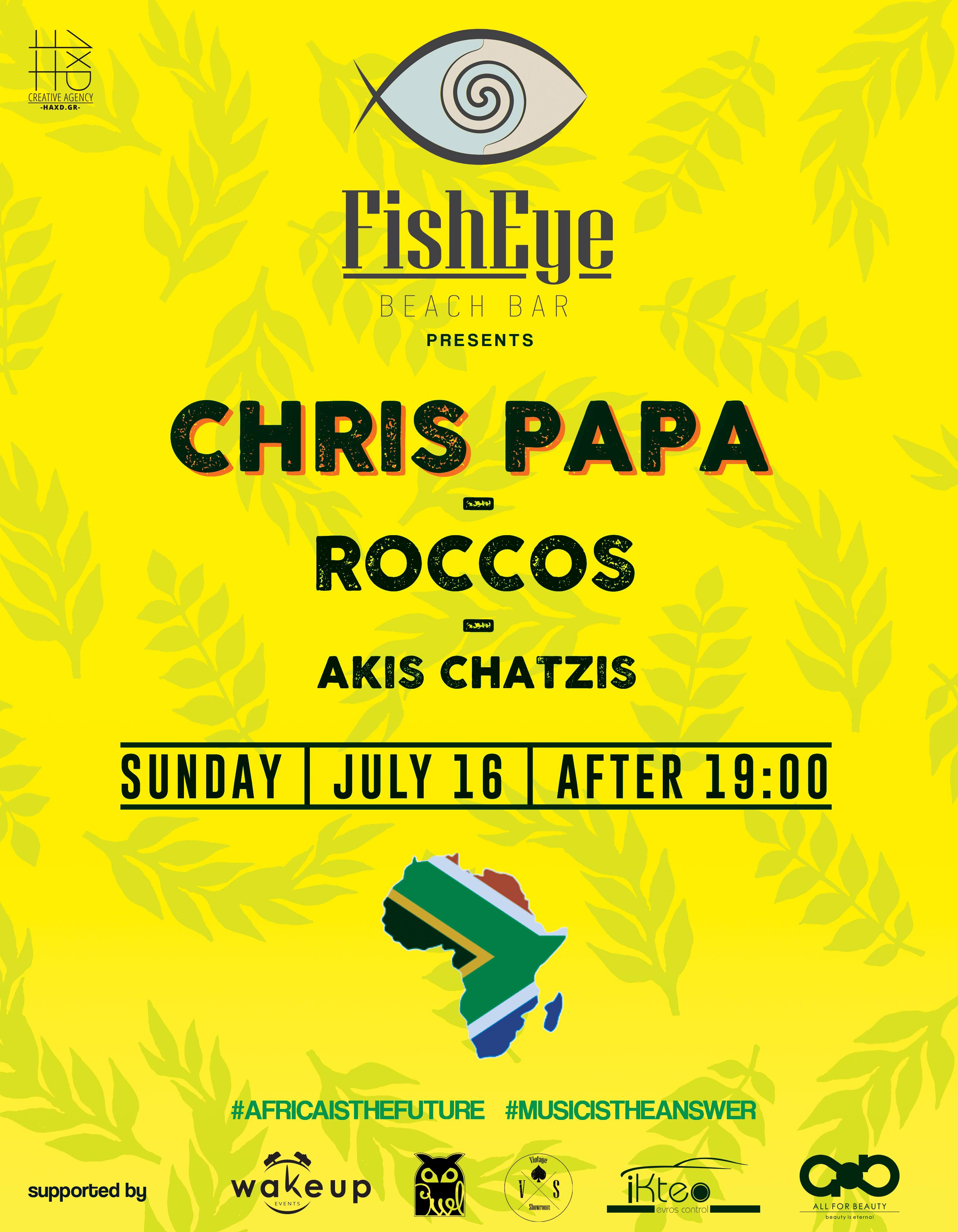 Chris Papa & Rocco along with Akis Chatzis @ Fisheye