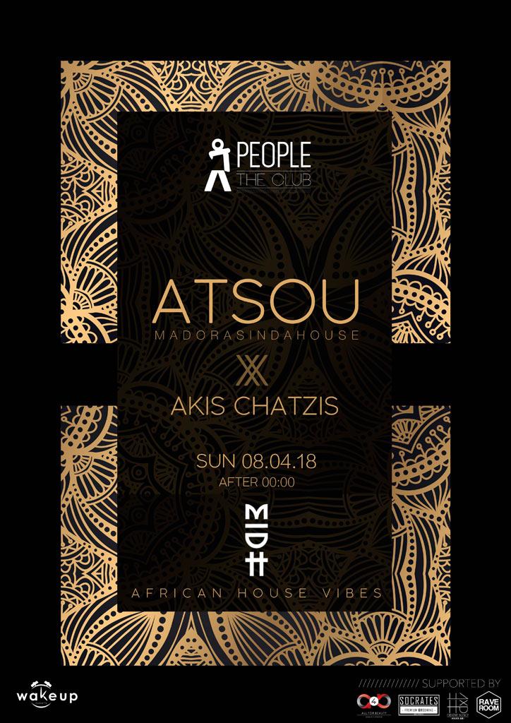 Atsou a/w Akis Chatzis @ People   The Club